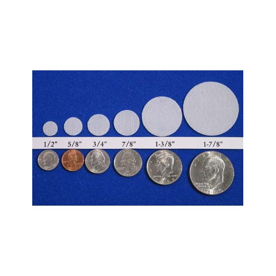 Velcro Hook And Loop Coin Sizes