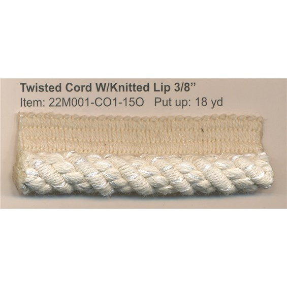 twisted cord knitted lip
