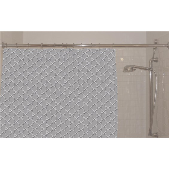 Contour Carbon Shower Curtain