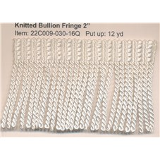 R22C009 KNITTED BULLION FRINGE 2""