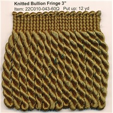 R22C010 KNITTED BULLION FRINGE 3""